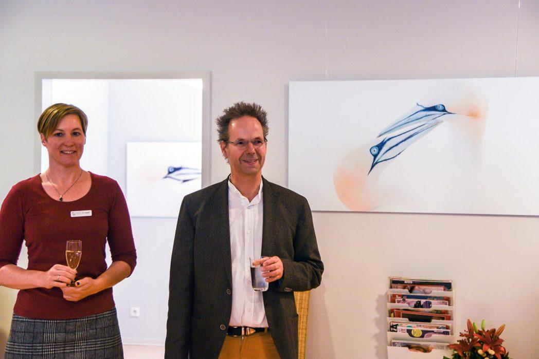 Dominique Hauff und Sven Kruesmann eröffnen die Ausstellung